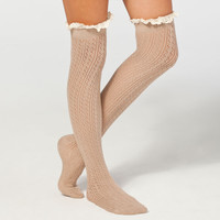 FULL TILT Lace Top Womens Knee High Socks 242685413 | Socks