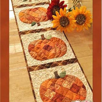 Pattern Patchwork Pumpkin Table Runner