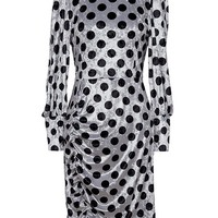 Retro Dot Dress (Silver)