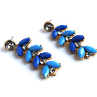"""""""Blue Magic"""" Gem Stone And Diamond Accent Earrings"""