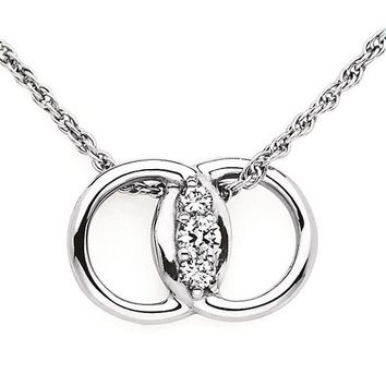 Diamond Marriage Symbol® 0.12 Carat Diamond Pendant