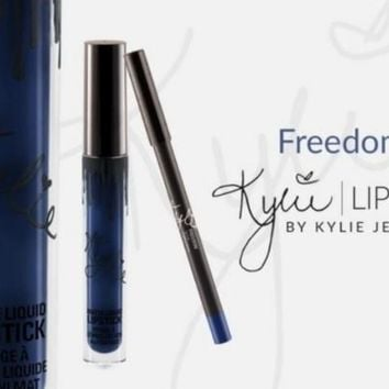 2Pcs Kylie Jenner Lip Kit FREEDOM Lipstick