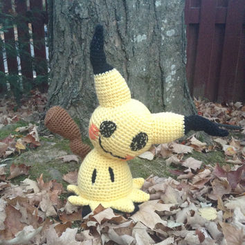 Pokemon Inspired: Life-Size Mimikyu  (Crochet Plushie/Plush Toy) - MADE TO ORDER!