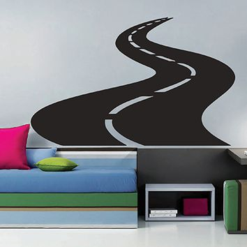 ik2907 Wall Decal Sticker road route lounge children's bedroom