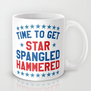 Time to Get Star Spangled Hammered - 4th of July Mug by CreativeAngel
