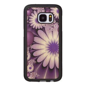Falling in Love Abstract Flowers & Hearts Fractal Wood Samsung Galaxy S7 Case