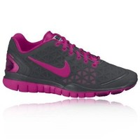 Nike Womens Nike Free TR Fit 2 Mtllc Slr/Wht Flh Mt running-shoes US 6.5 NIB