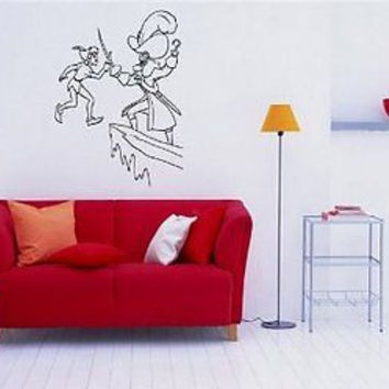 Peter Pan Wall MURAL Vinyl Sticker Kids ROOM S. 072