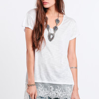 Like Home Lace Accent Tee