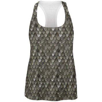 DCCKU3R Halloween Steel Scale Armor Costume All Over Womens Work Out Tank Top