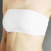 Zenana Outfitters Women's Allover Lace Bandeau Bra Tube Top
