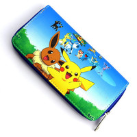 Pokemon Eevee Pikachu Long Style Wallet Purse