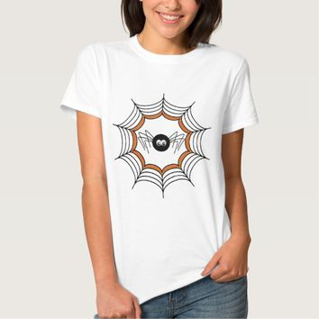 Cute Halloween Spider and Spider Web T-Shirt