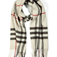 Burberry London - Cashmere Giant Check Scarf in Trench Check
