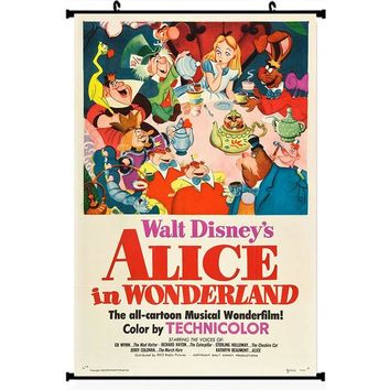 "Alice in Wonderland Anime Movie Art Silk Poster Wall Scroll 11.5x20 22.5x36"" Wall Pictures Decoration-1"