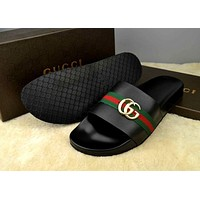 GUCCI Women Men Casual Fashion Flat Sandal Slipper Shoes