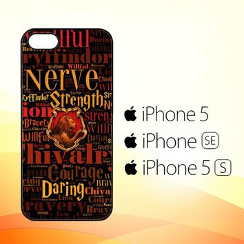 Harry Potter Gryffindor QUOTES Y1674  iPhone 5|5S|SE Case