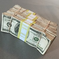 PROP MONEY USED STAINED & DISTRESSED LOOK $50,000 Blank Paper Filler Pack for Movie, TV, Videos, Advertising & Novelty