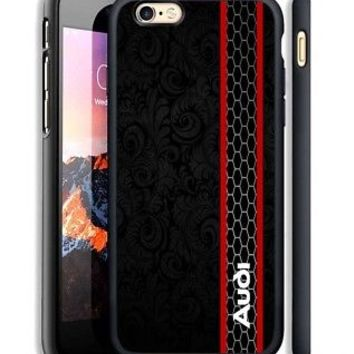 Audi Black Grill Stripe Print On Hard Case For iPhone 6 6s Plus 7 8 Plus Cover