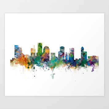 Houston Skyline Art Print by monnprint