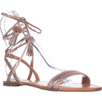 I35 Ganice Two-Piece Lace-Up Flat Sandals - Pearl Rose