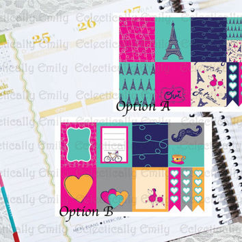 Erin Condren Stickers  - Paris Stickers | Weekly Stickers |To do Checklist Stickers | Filofax | Planner | Journal