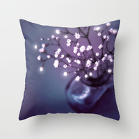 BABY'S BREATH | LITTLE LIGHTSPOTS Throw Pillow by 📷 VIAINA