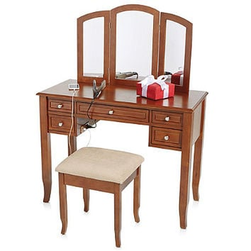 Charlotte 2 Piece Vanity Set With Power From Bed Bath Beyond