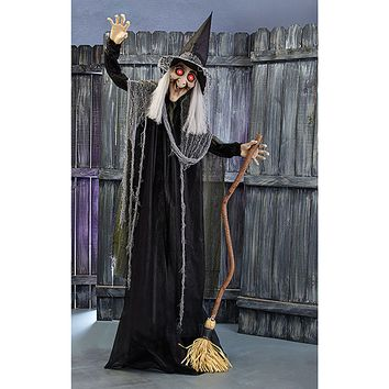Rita the Animated Witch with Broom