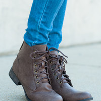The Georgia Bootie, Light Brown