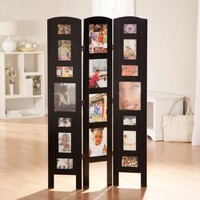 Memories Photo Frame Room Divider - Black 3 Panel - Walmart.com