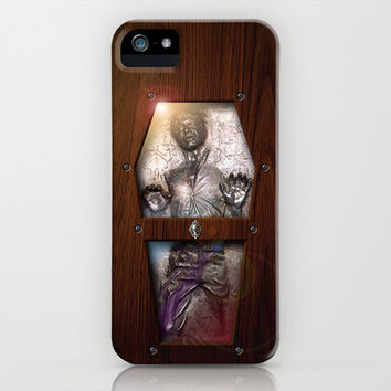 Harrison ford Han Solo Carbonite statue inside the Wood Glass Coffin apple iPhone 3, 4 4s, 5 5s 5c, iPod & samsung galaxy s4 case cover