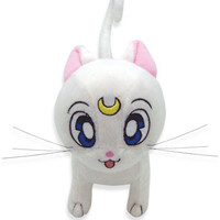 Plush Artemis Sailor Moon anime Cat Plushie White toy doll character ~8x6x3.5 in