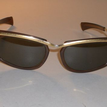 LADIES 1960'S VINTAGE B&L RAY BAN USA TORTOISE GP G15 SLEEK OLYMPIAN SUNGLASSES