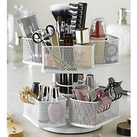 Nifty Spinning Dual Level Organizer Carousel — QVC.com