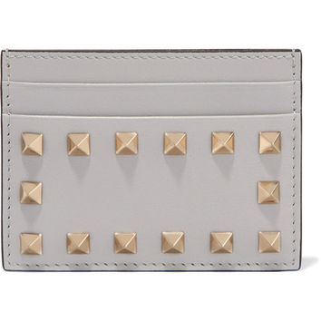 Valentino - The Rockstud leather cardholder
