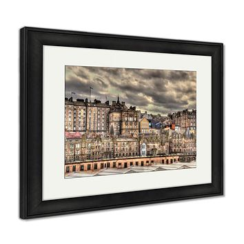 Framed Print, View Of The City Centre Of Edinburgh Scotland