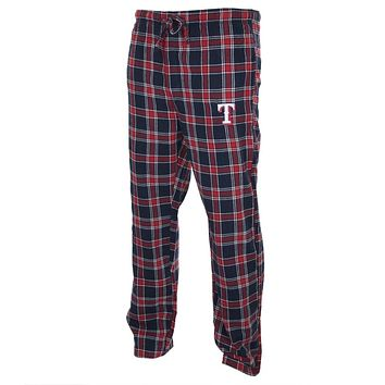 Texas Rangers - Logo Plaid Lounge Pants