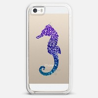 MERMAIDIA Seahorse Crystal Clear iPhone 5s case by Monika Strigel | Casetagram