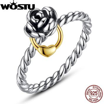 Hot Sale 925 Silver Flower Rings Compatible With European Fit Original WST Engagement Brand Ring S925 Jewelry Present ZBB7207
