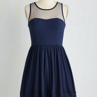 Mid-length Sleeveless A-line Socialize on the Prize Dress by ModCloth