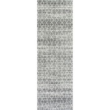 nuLOOM Geometric Moroccan Trellis Fancy Grey Runner Rug (2'8 x 8') | Overstock.com Shopping - The Best Deals on Runner Rugs
