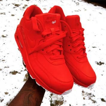 Candy Paint Nike Air Max 90 Hyperfuse Premium Customs in All Red, Blue, Green, Pink, e