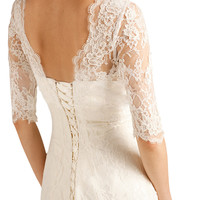 3/4 Sleeve Lace Wedding Dress (63229)