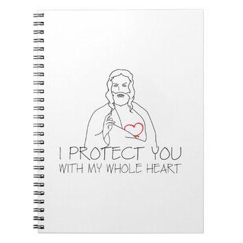 Jesus Christ - I Protect You Notebook