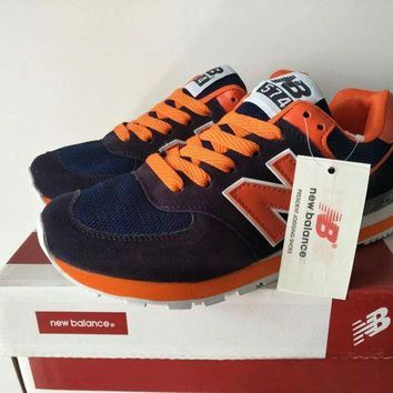 CREYONV new balance 574 sport casual unisex n words multicolor retro sneakers couple running shoes