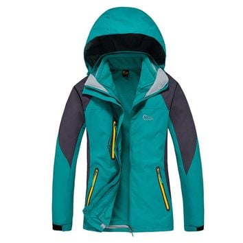 Winter Warm Ski 3in1 Waterproof Windstopper Outdoor Jacket Women Hiking Camping Coat Fleece Inner Jaqueta Feminina