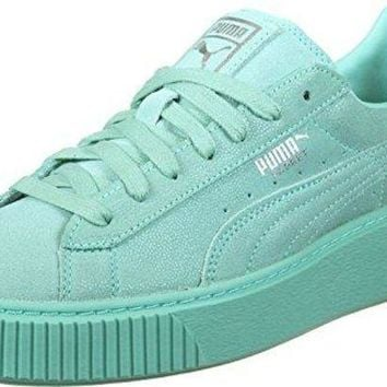 puma basket platform reset womens trainers 363313 sneakers shoes  number 1