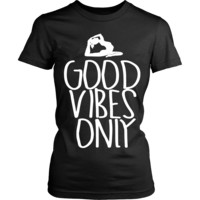 """Women's Tee Soft Tee """"GOOD VIBES ONLY'"""