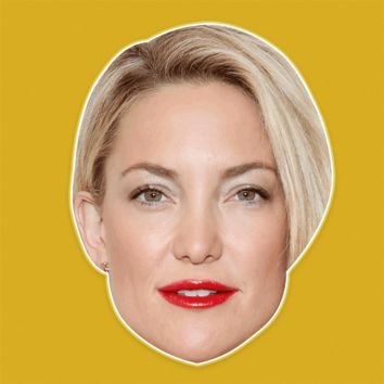 Serious Kate Hudson Mask - Perfect for Halloween, Costume Party Mask, Masquerades, Parties, Festivals, Concerts - Jumbo Size Waterproof Laminated Mask
